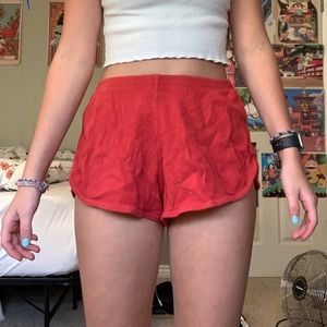 red brandy melville shorts